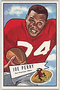 Joe Perry, San Francisco '49ers, from the Bowman Football series (R407-4) issued by Bowman Gum