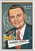 Raymond Parker, Detroit Lions, from the Bowman Football series (R407-4) issued by Bowman Gum