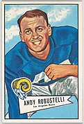 Andy Robustelli, Los Angeles Rams, from the Bowman Football series (R407-4) issued by Bowman Gum