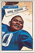 George Taliaferro, Dallas Texans, from the Bowman Football series (R407-4) issued by Bowman Gum