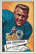 Jack Christiansen, Detroit Lions, from the Bowman Football series (R407-4) issued by Bowman Gum