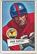 John Rapacz, New York Giants, from the Bowman Football series (R407-4) issued by Bowman Gum