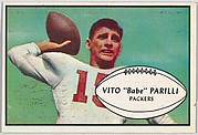 "Vito ""Babe"" Parilli, Packers, from the Bowman Football series (R407-5) issued by Bowman Gum"