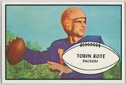Tobin Rote, Packers, from the Bowman Football series (R407-5) issued by Bowman Gum