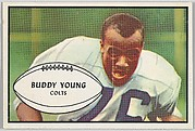 Buddy Young, Colts, from the Bowman Football series (R407-5) issued by Bowman Gum