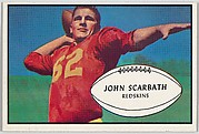 John Scarbath, Redskins, from the Bowman Football series (R407-5) issued by Bowman Gum