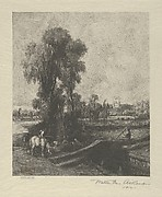 The Lock, after Constable