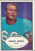 Harley Sewell, Lions, from the Bowman Football series (R407-5) issued by Bowman Gum