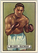 Bob Baker, Heavyweight, from the Topps Ringside series (R411) issued by Topps Chewing Gum Company