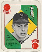 Card  Number 25, Cliff Chambers, Pittsburgh Pirates, from the Topps Red/ Blue Backs series (R414-5) issued by Topps Chewing Gum Company