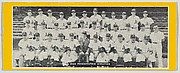 Team portrait of 1950 Philadelphia Athletics, from the Topps Team Pictures series (R414-4) issued by Topps Chewing Gum Company