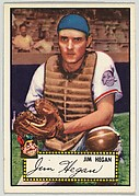 Card Number 17, Jim Hegan, Cleveland Indians, from the Topps Baseball series (R414-6) issued by Topps Chewing Gum Company