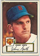 Card Number 25, Johnny Groth, Detroit Tigers, from the Topps Baseball series (R414-6) issued by Topps Chewing Gum Company
