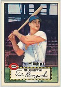 Card Number 29, Ted Kluszewski, Cincinnati Reds, from the Topps Baseball series (R414-6) issued by Topps Chewing Gum Company