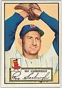Card Number 43, Ray Scarborough, Boston Red Sox, from the Topps Baseball series (R414-6) issued by Topps Chewing Gum Company