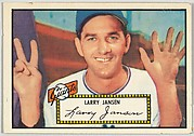Card Number 5, Larry Jansen, New York Giants, from the Topps Baseball series (R414-6) issued by Topps Chewing Gum Company