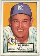 Card Number 67, Allie Reynolds, New York Yankees, from the Topps Baseball series (R414-6) issued by Topps Chewing Gum Company