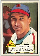 Card Number 79, Gerald Staley, St. Louis Cardinals, from the Topps Baseball series (R414-6) issued by Topps Chewing Gum Company