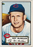 Card Number 137, Roy McMillan, Cincinnati Reds, from the Topps Baseball series (R414-6) issued by Topps Chewing Gum Company
