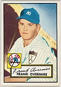Card Number 155, Frank Overmire, New York Yankees, from the Topps Baseball series (R414-6) issued by Topps Chewing Gum Company