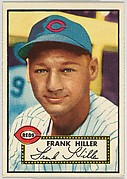 Card Number 156, Frank Hiller, Cincinnati Reds, from the Topps Baseball series (R414-6) issued by Topps Chewing Gum Company