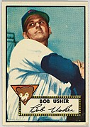 Card Number 157, Bob Usher, Chicago Bears, from the Topps Baseball series (R414-6) issued by Topps Chewing Gum Company