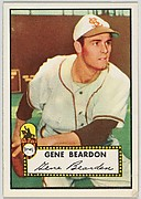 Card Number 229, Gene Beardon, St. Louis Browns, from the Topps Baseball series (R414-6) issued by Topps Chewing Gum Company