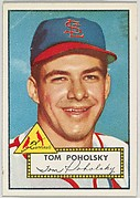 Card Number 242, Tom Poholsky, St. Louis Cardinals, from the Topps Baseball series (R414-6) issued by Topps Chewing Gum Company
