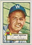 Card Number 245, Sherry Robertson, Washington Senators, from the Topps Baseball series (R414-6) issued by Topps Chewing Gum Company