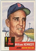 Card Number 94, William Kennedy, Pitcher, Boston Red Sox, from the series Topps Dugout Quiz (R414-7), issued by Topps Chewing Gum Company