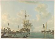 A Man O'War Lying at Anchor