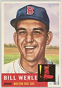 Card Number 170, Bill Werle, Pitcher, Boston Red Sox, from the series Topps Dugout Quiz (R414-7), issued by Topps Chewing Gum Company
