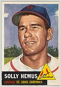 Card Number 231, Solly Hemus, Shortstop, St. Louis Cardinals, from the series Topps Dugout Quiz (R414-7), issued by Topps Chewing Gum Company
