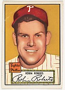 Card Number 59, Robin Roberts, Philadelphia, from the Topps Baseball series (R414-6) issued by Topps Chewing Gum Company