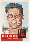 Card Number 149, Dom DiMaggio, from the series Topps Dugout Quiz (R414-7), issued by Topps Chewing Gum Company
