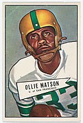 Ollie Matson, from the Bowman Football series (R407-4) issued by Bowman Gum