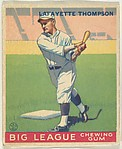 Lafayette Thompson, Brooklyn Dodgers, from the Goudey Gum Company's Big League Chewing Gum series (R319)