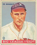 Ed Brandt, Boston Braves, from the Goudey Gum Company's Big League Chewing Gum series (R319)