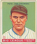 Pete Jablonowski, New York Yankees, from the Goudey Gum Company's Big League Chewing Gum series (R319)