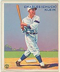 Charles (Chuck) Klein, Philadelphia Phillies, from the Goudey Gum Company's Big League Chewing Gum series (R319)