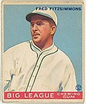 Fred Fitzsimmons, New York Giants, from the Goudey Gum Company's Big League Chewing Gum series (R319)