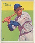 Bill Herman, Chicago Cubs, from the Goudey Gum Company's Big League Chewing Gum series (R319)