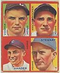 Vosmik, Indians; Knickerbocker, Indians; Harder, Indians; Stewart, Indians