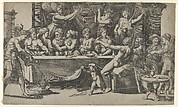 The Olympian gods at the marriage feast of Cupid and Psyche, after Raphael