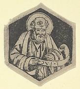 St Luke the Evangelist, holding a banderole (possibly a modern impression)
