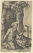 Saint Jerome kneeling before a crucifix, from the series 'Piccoli Santi' (Small Saints)