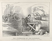 The Progress of the Century – The Lightning Steam Press. The Electric Telegraph. The Locomotive. The Steamboat.