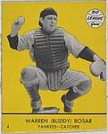 Warren (Buddy) Rosar, Yankees, Catcher (Card #4, Yellow)