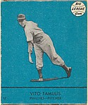 Vito Tamulis, Phillies, Pitcher (Card #17, Blue)