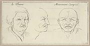 Le Pleurer and mouvement composé (from Caractères des passions, gravés sur les desseins de l'illustre Monsieur le Brun)